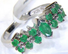 EMERALD RING /SILVER  22.79   CTS SJ-1053