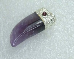 Lovely Natural Amethyst Stone Pendant DJ162