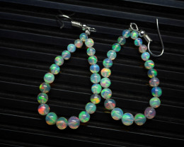Natural Ethiopian  Opal Earrings 92.5 Solid Silver