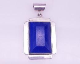 Natural Beautiful Good Quality Lipas Lazuli Pendant 925 Silver