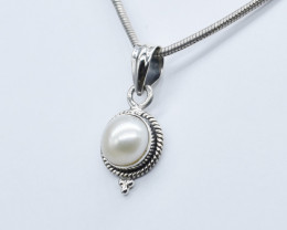 PEARL PENDANT 925 STERLING SILVER NATURAL GEMSTONE JP200