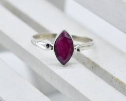 RUBY RING 925 STERLING SILVER NATURAL GEMSTONE JR1031
