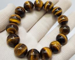Natural Tiger Eye Bracelet 306.00 Carats