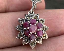 Antique Style Natural Ruby pendent.