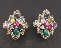 Natural Mix Stones Earrings.