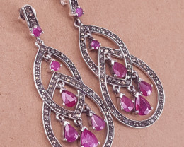 Natural Beautiful Ruby Earrings