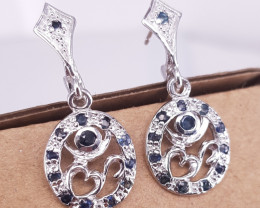Natural Sapphire beautiful Earrings.