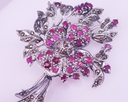 Natural Ruby Brooche