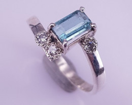Hand Made Natural Topaz Ring