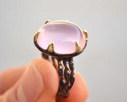 Rose Quartz Ring in Sterling Silver
