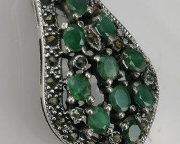 Natural Emerald Brooches And CZ.