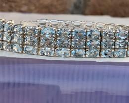 Natural Topaz Bracelet 42.56 TCW.