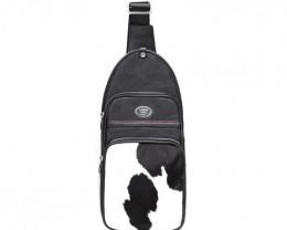 CALF LEATHER CROSSBODY BAG& BACKPACK #BLACK