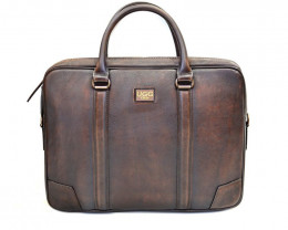COEW LEATHER BRIEFCASE #CHOCOLATE