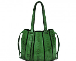 OSTRICH LEATHER BAG #GREEN