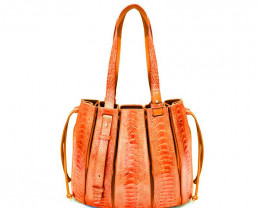 OSTRICH LEATHER BAG #ORANGE