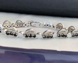 Natural sapphire bracelet TCW 5.00