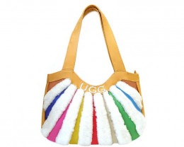 SHEEPSKIN RAINBOW HANDBAG
