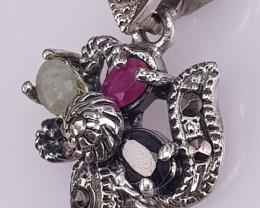 Natural Multi Stone Pendant.
