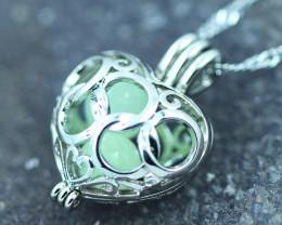 Lovers Luminous Heart  Bell shape Pendant Ch 974-3