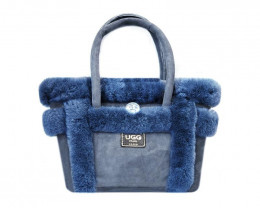SHEEPSKIN HANDBAG #NAVY