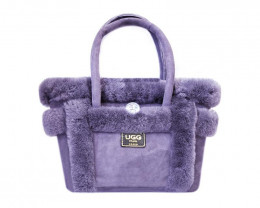 SHEEPSKIN HANDBAG #PURPLE