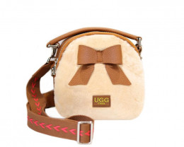 SHEEPSKIN SHOULDER BAG WITH BOW #3
