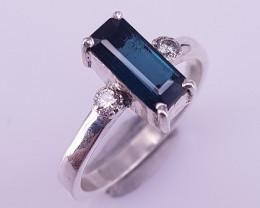 Natural Indicolite Tourmaline Ring
