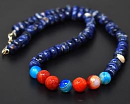 Onyx & Sodalite  Beads Necklace
