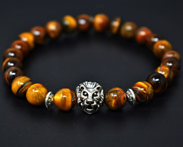 Tiger Eye Beads Stretchable Bracelet