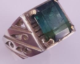 Natural Bio Color Tourmaline Man Ring.