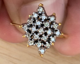 Natural Diamond Ring TCW  0.64