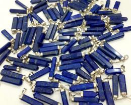 Natural Lapis Lazuli 925 Silver Pendants