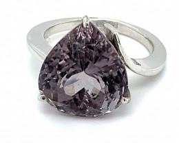 Purple Tourmaline 11.15ct Solid 18K White Gold Ring