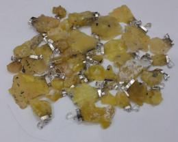 Natural Brucite 925 Silver Pendants