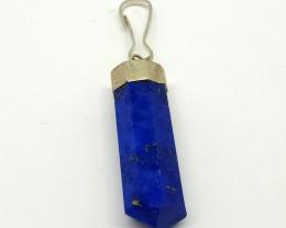 Natural Blue Lapis Lazuli Copper Pendant