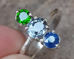 Natural Spinel Chrome diopside and sapphire.