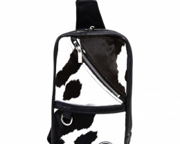 CALF LEATHER CROSSBODY BAG& BACKPACK #BLACK