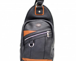 COW LEATHER CROSSBODY BAG& BACKPACK #BLACK&ORANGE