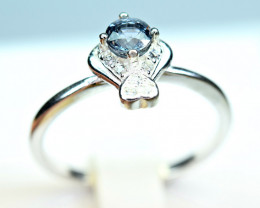 Natural top Burmese Nice Spinel ,CZ 925 Silver Ring