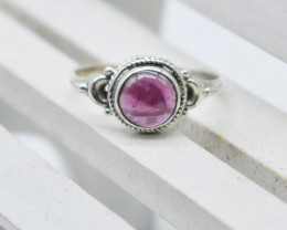 GARNET RING 925 STERLING SILVER NATURAL GEMSTONE JR1059
