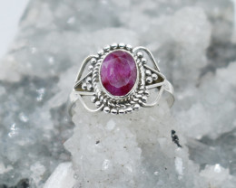 RUBY RING 925 STERLING SILVER NATURAL GEMSTONE JR1061