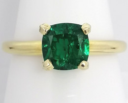 Emerald Solitaire Ring 1.20ct. - 14kt. Gold