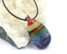 Seven Chakra  Natural Gemstone Pendant AHA 138