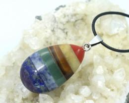 Seven Chakra  Natural Gemstone Pendant AHA 140