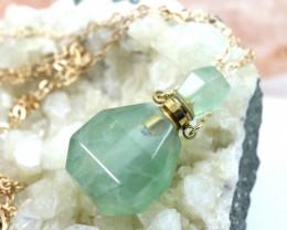 Natural Smokey Quartz Gemstone Bottle Necklace  AHA 194