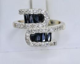 18.76 Crt Natural Sapphire 925 Sterling Silver Ring