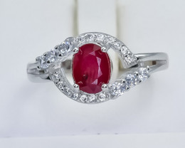 15.50 Crt Natural Composite Ruby 925 Sterling Silver Ring