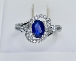 16.16 Crt Natural Composite Sapphire 925 Sterling Silver Ring