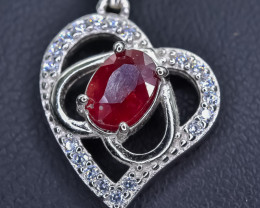 15.71 Crt Natural Composite Ruby 925 Sterling Silver Pendant